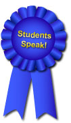 Students Speak! Contest Blue Ribbon